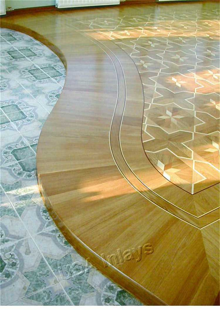 Wood floor inlays for Hardwood floor inlay designs