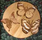 Butterfly wood medallion