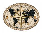 World Compass Oval