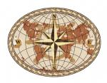 World Compass Oval Light